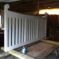 Bespoke timber gate built and finished to clients specification